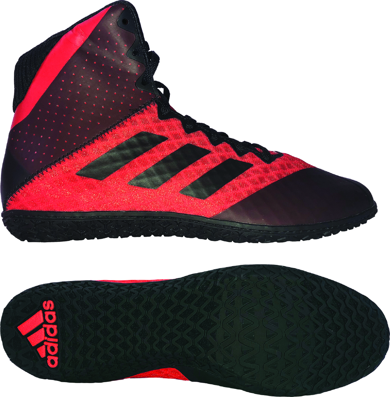 NEW!! adidas Mat Wizard 4 Wrestling Shoe, color: Red/Black
