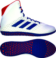 adidas Mat Wizard 4 Wrestling Shoe, color: White/Royal/Red