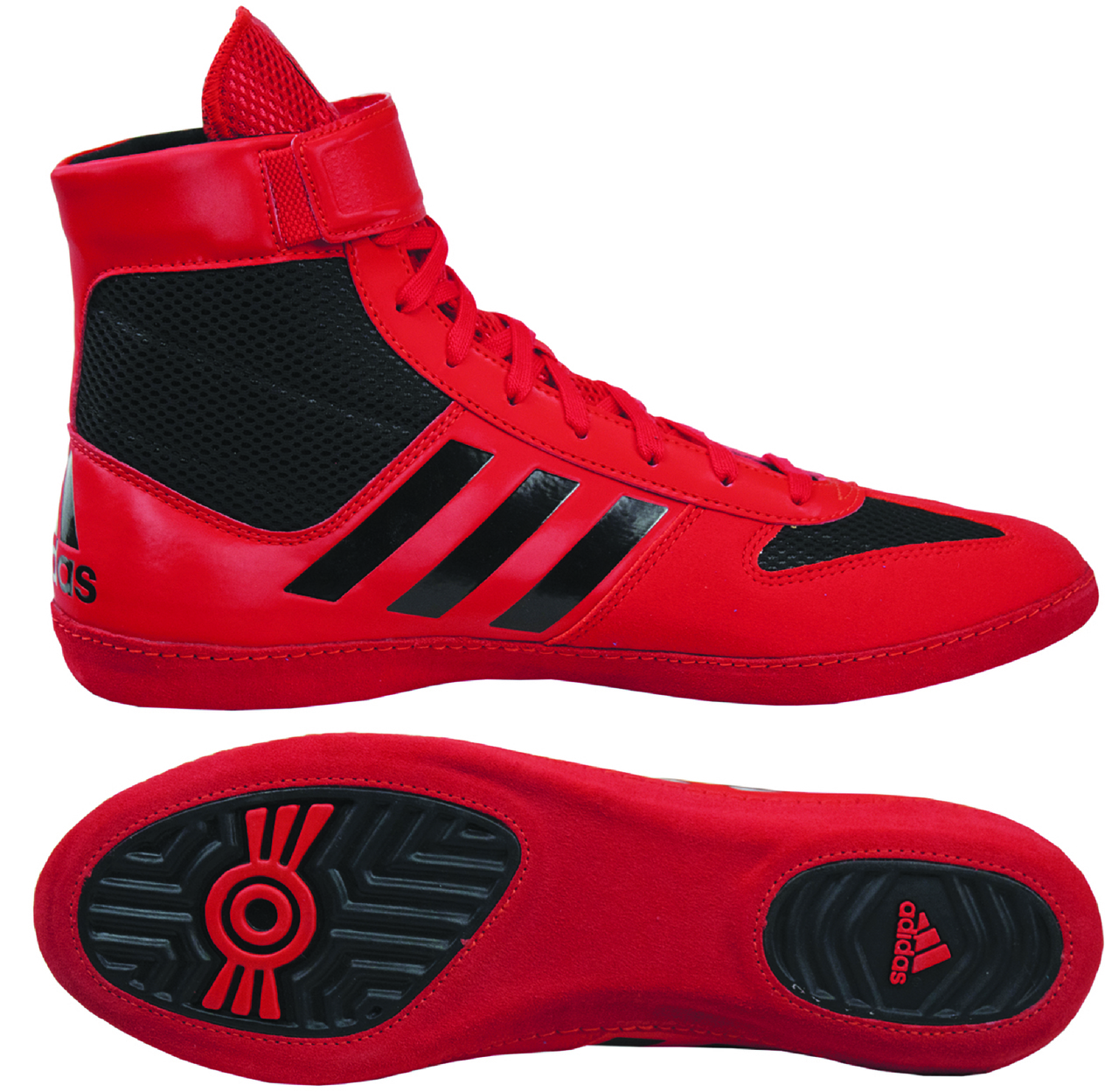 Adidas Combat Speed 5 Wrestling Shoes, color: Red/Black