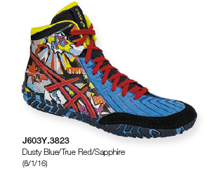 ASICS® Aggressor® 3 LE Comic-Hero Wrestling Shoes, Color: (3823)