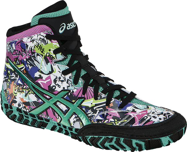 ASICS® Aggressor® 2 LE Graffiti Wrestling Shoes ** Color: (9964)