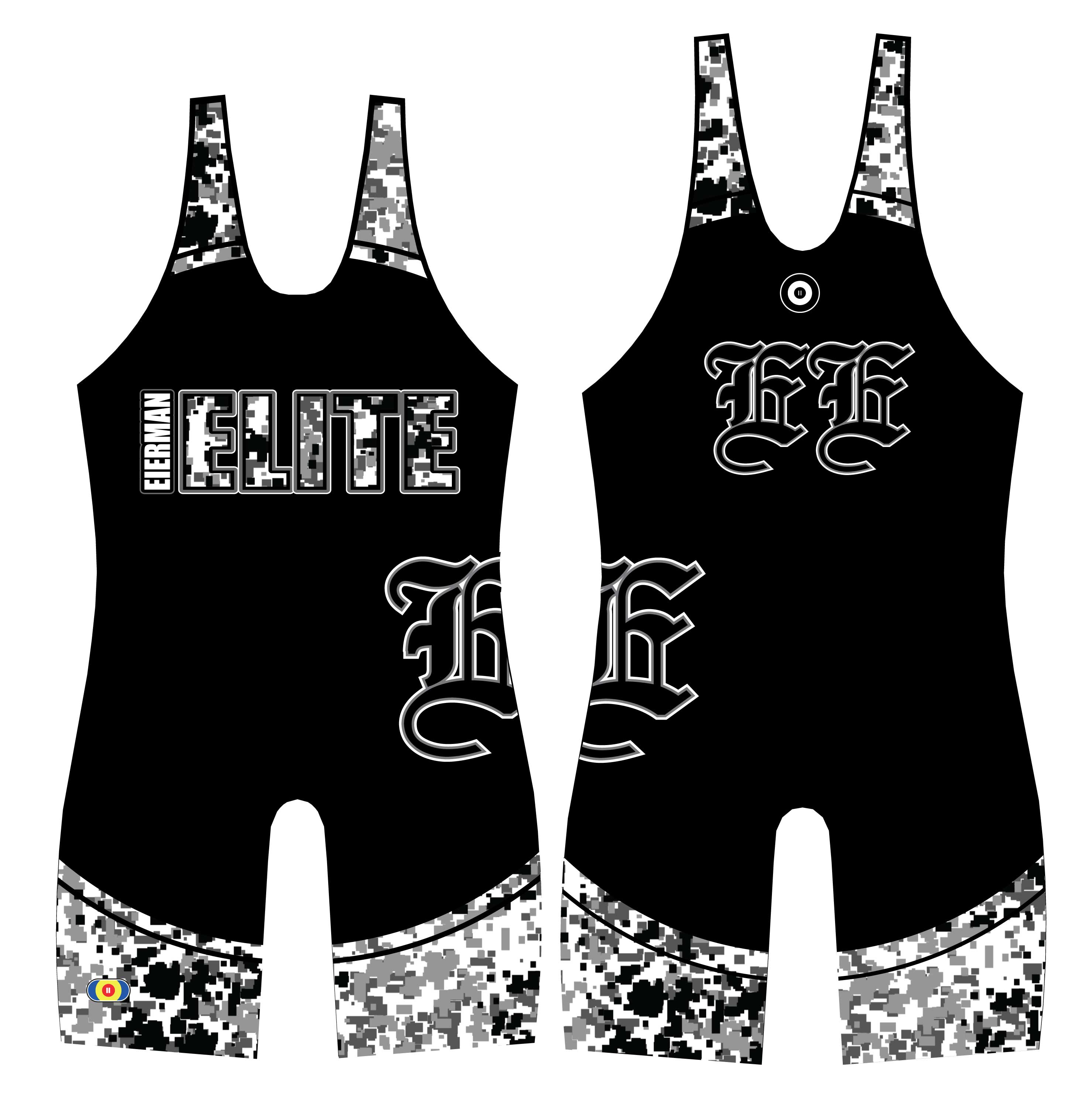 WC Eierman Elite Custom Team Singlet, color: Black/Digital Camo