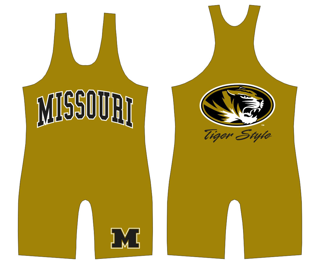 "WC Missouri ""Tiger Style"" Singlet, color: Old Gold"