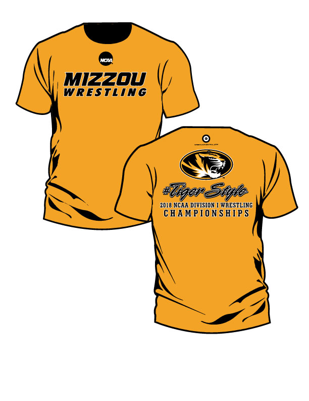NCAA MIZZOU Wrestling / #Tiger Style S/S T-Shirt, color: Gold