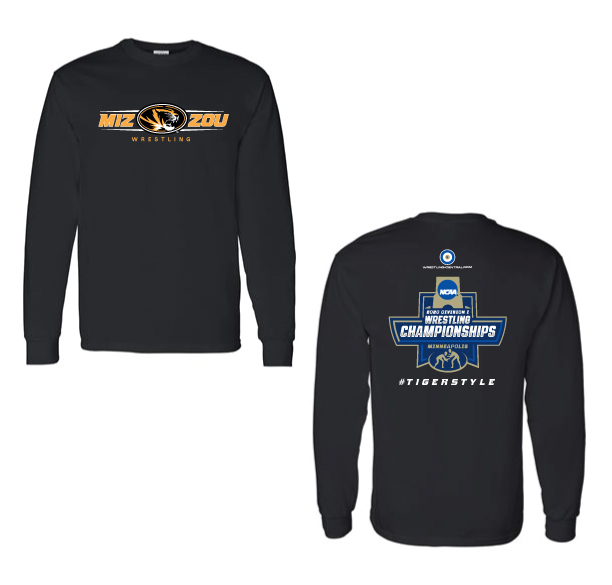 NCAA MIZZOU Wrestling / #Tiger Style L/S T-Shirt, color: Black