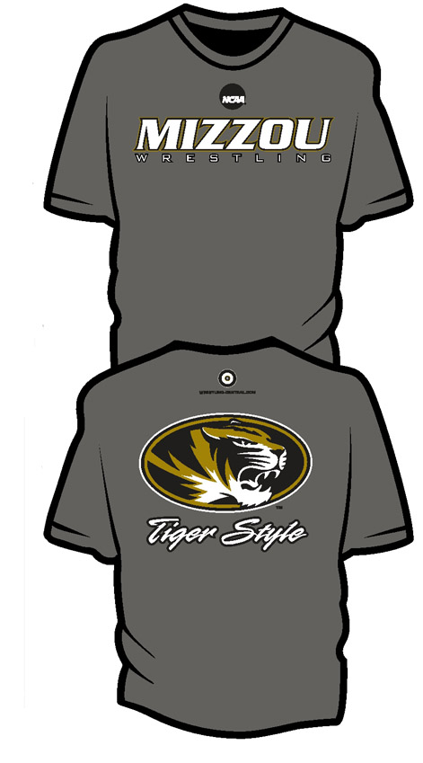 NCAA MIZZOU Wrestling Short Sleeve T-Shirt, color: Smoke Grey